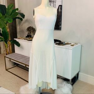 New Free People semi sheer midi dress white medium